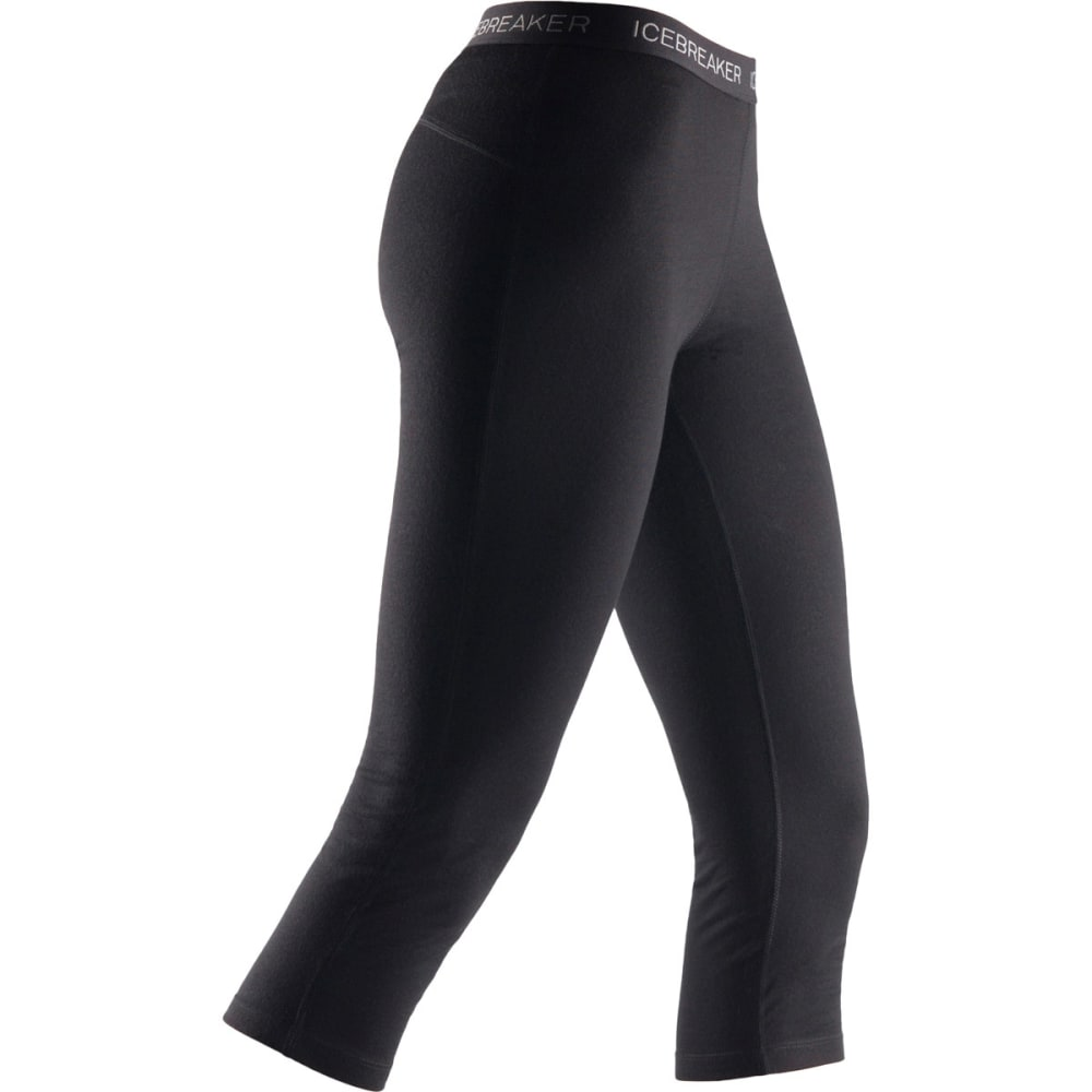 ICEBREAKER Women's Vertex 3/4 Leggings - BLACK
