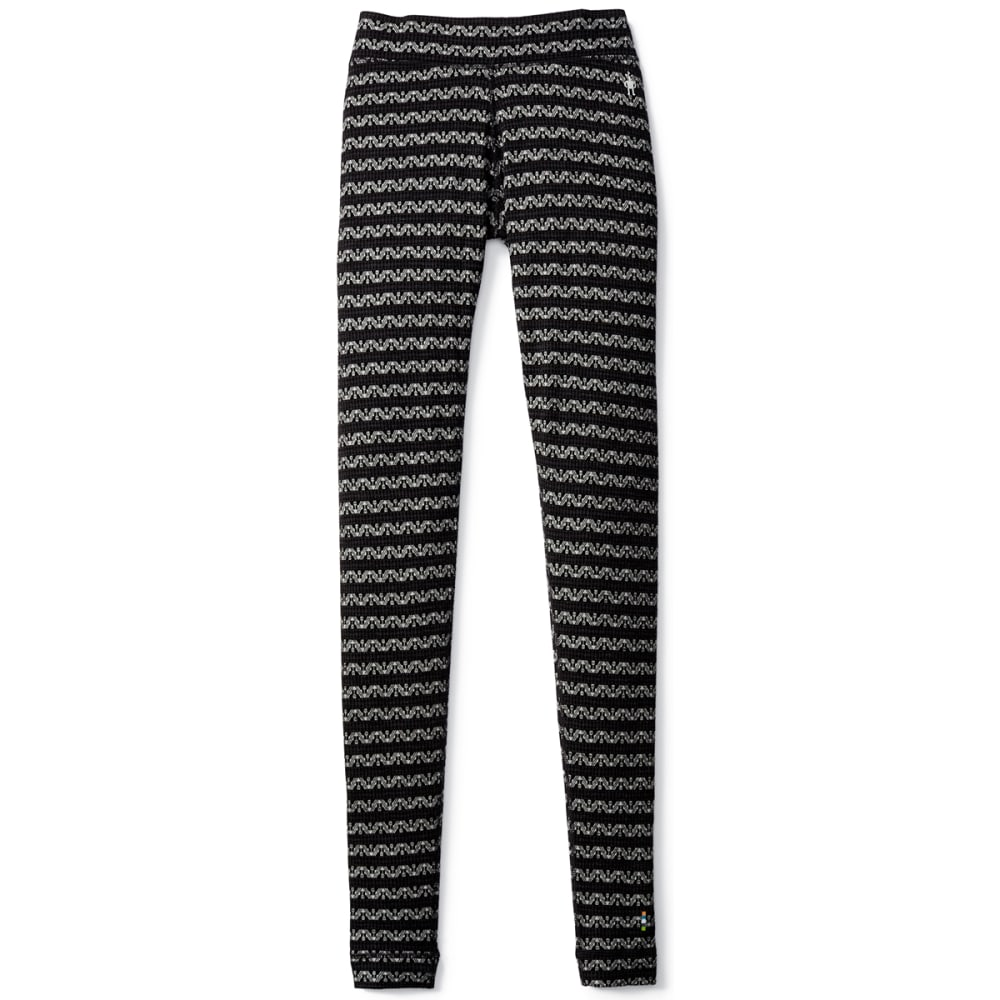 SMARTWOOL Women's NTS Mid 250 Pattern Bottoms - 016-BLK/CHARCOAL