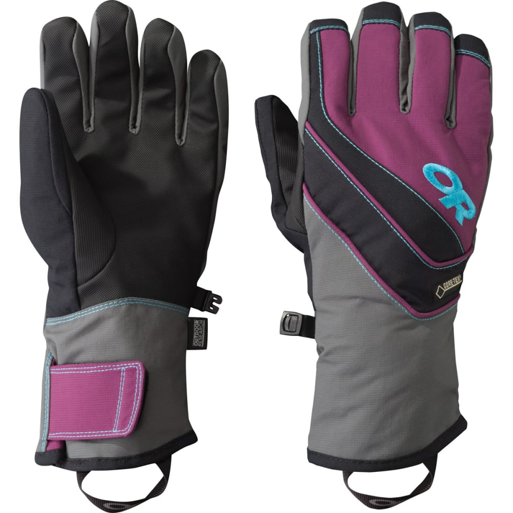 OUTDOOR RESEARCH Women's Centurion Gloves - CHARCOAL/ORCHID/RIO