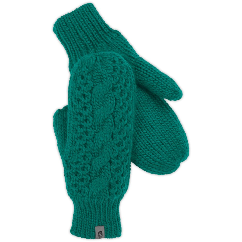 THE NORTH FACE Women's Cable Knit Mittens - FANFARE GREEN
