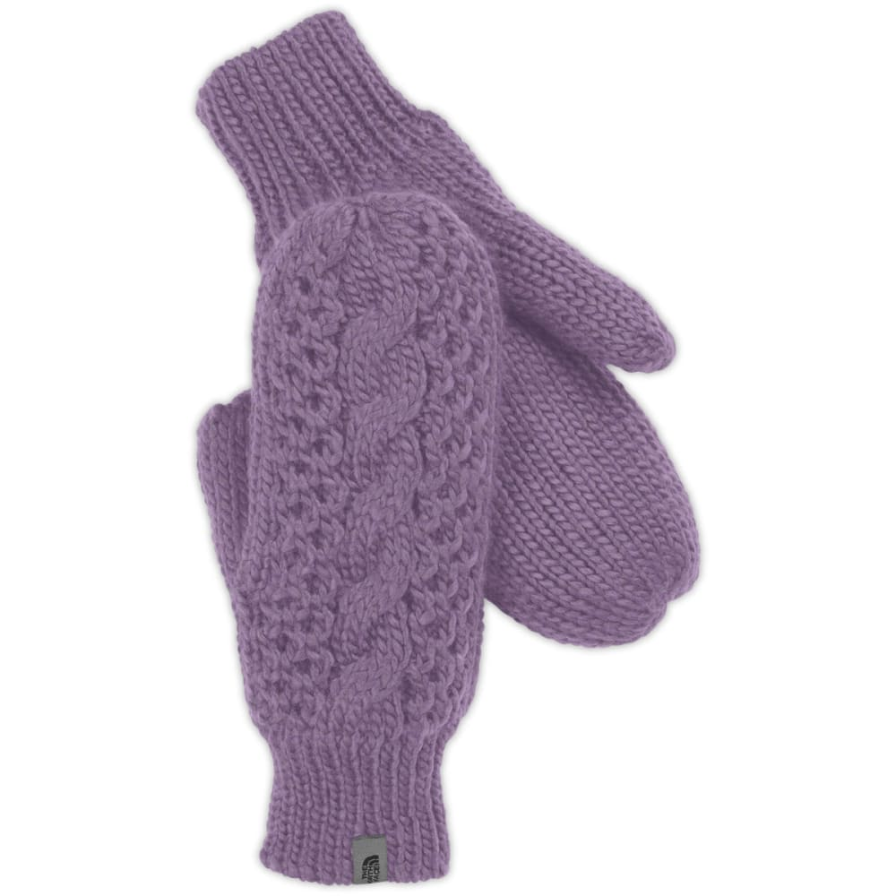THE NORTH FACE Women's Cable Knit Mittens - PURPLE SAGE