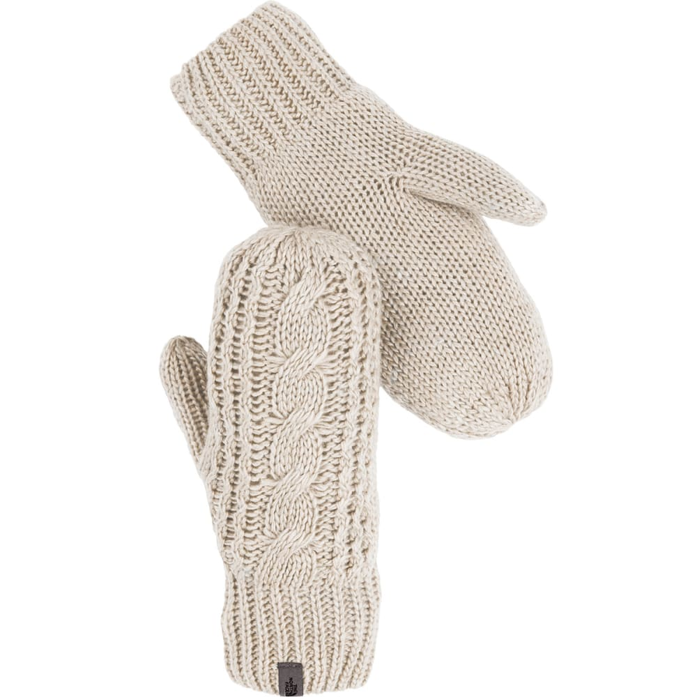 THE NORTH FACE Women's Cable Knit Mitt - IVORY