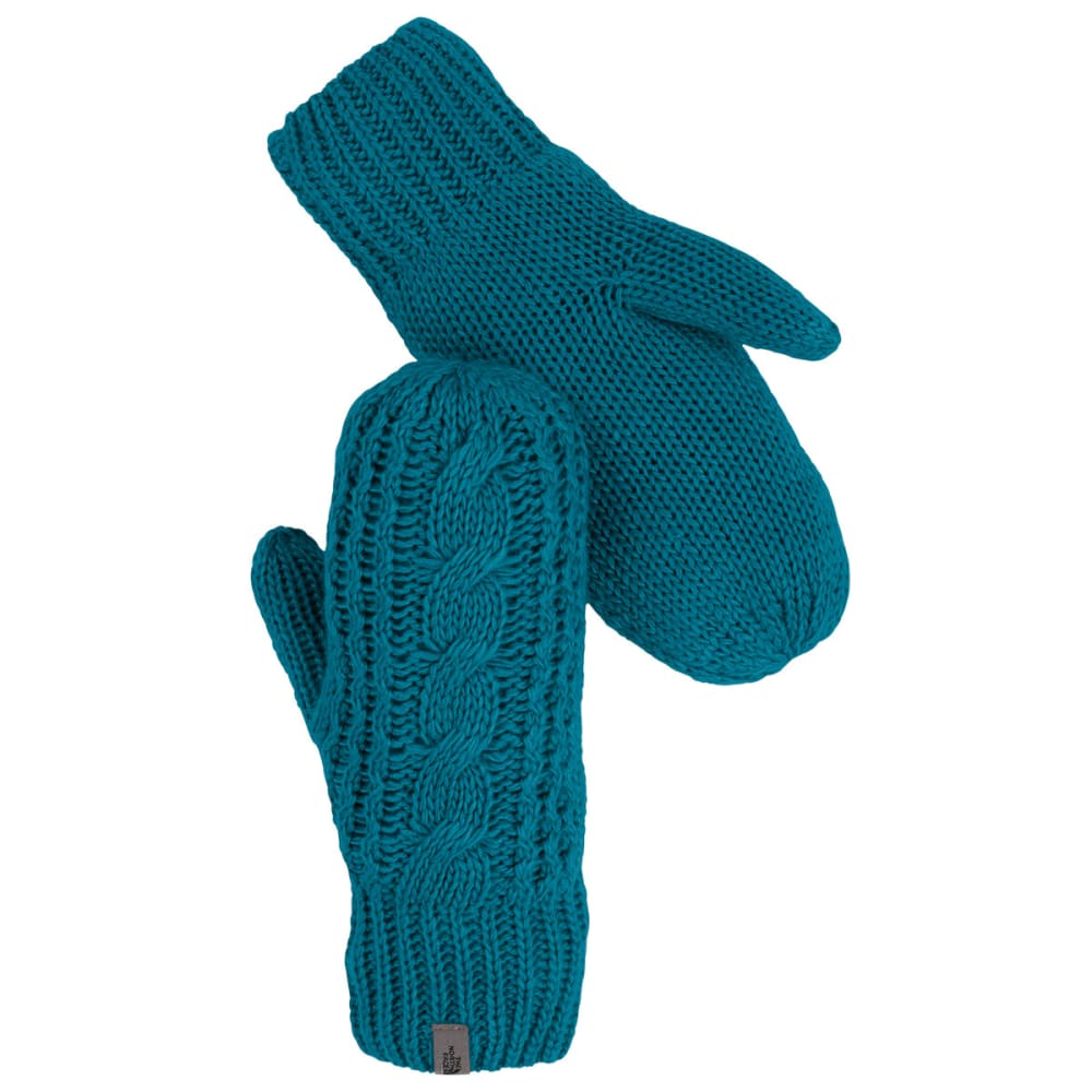 THE NORTH FACE Women's Cable Knit Mitt - JUNIPER TEAL