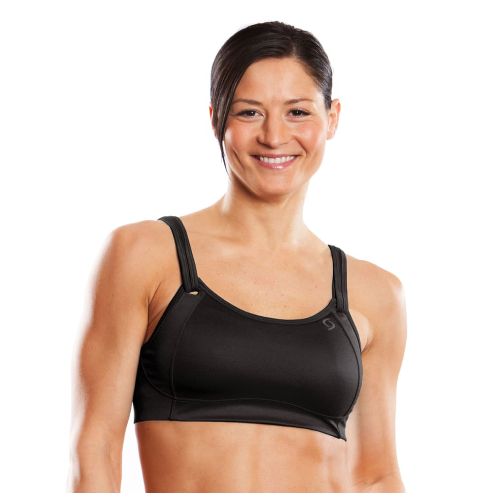 MOVING COMFORT Women's Fiona Bra - BLACK