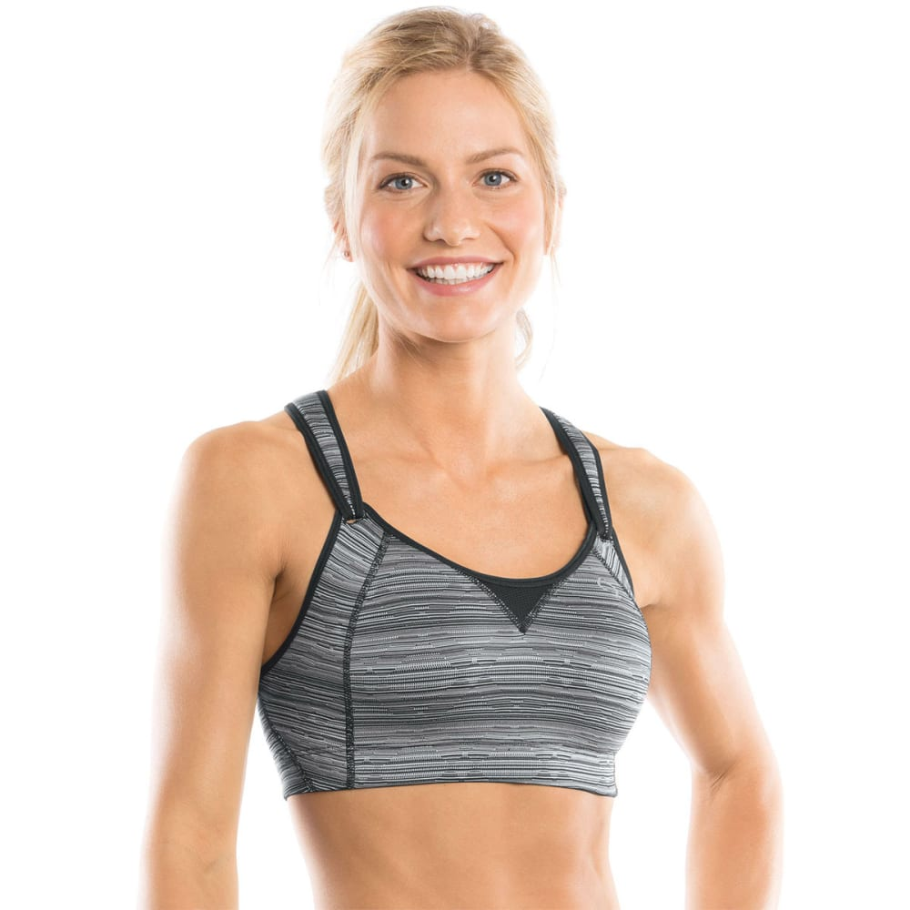 MOVING COMFORT Rebound Racer Sports Bra - BLACK JACQUARD