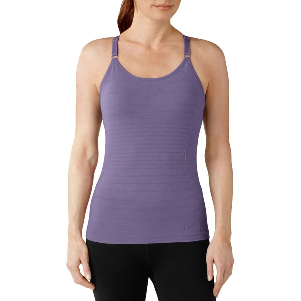 SMARTWOOL Women's PhD Seamless Long Bra - DESERT PURPLE