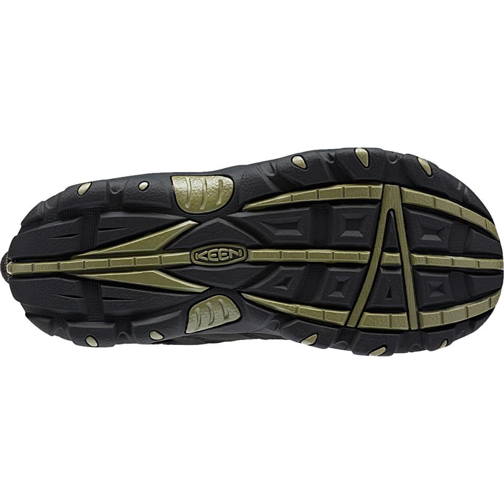 KEEN Boys' Koven Low WP Hiking Shoes, Black/Burnt Olive - BLACK