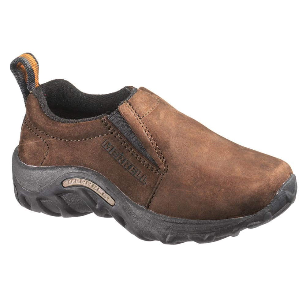 MERRELL Youth Jungle Moc Nubuck Shoes, Brown - BROWN