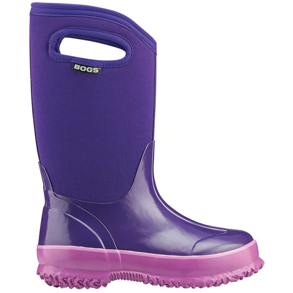 BOGS Kids' Solid Classic Boots, Grape - GRAPE