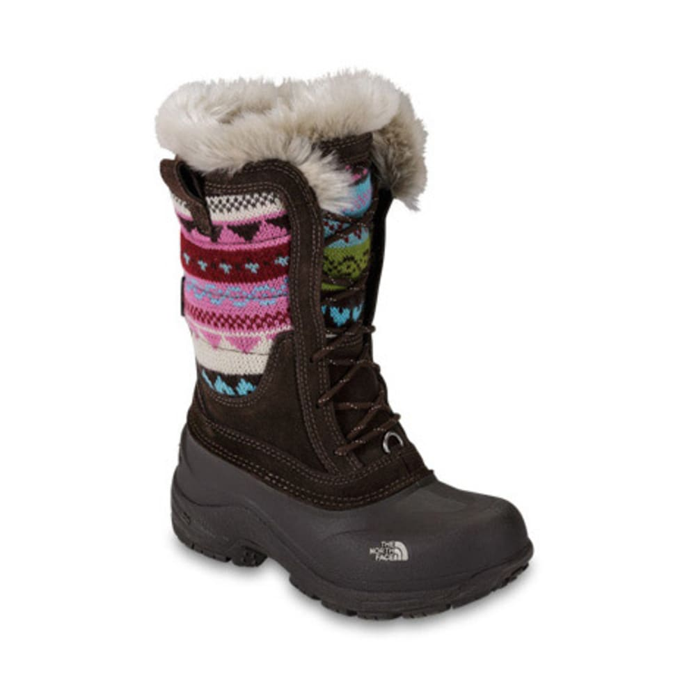 dc10cc232 THE NORTH FACE Girls' Shellista Lace Novelty Winter Boots, Brown/Pink