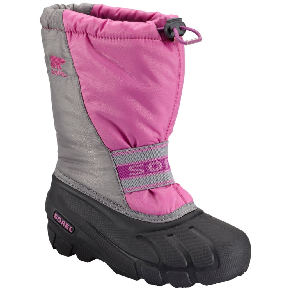SOREL Girls' Cub Winter Boots, Very Berry - FUSHCIA PINK HEATHER