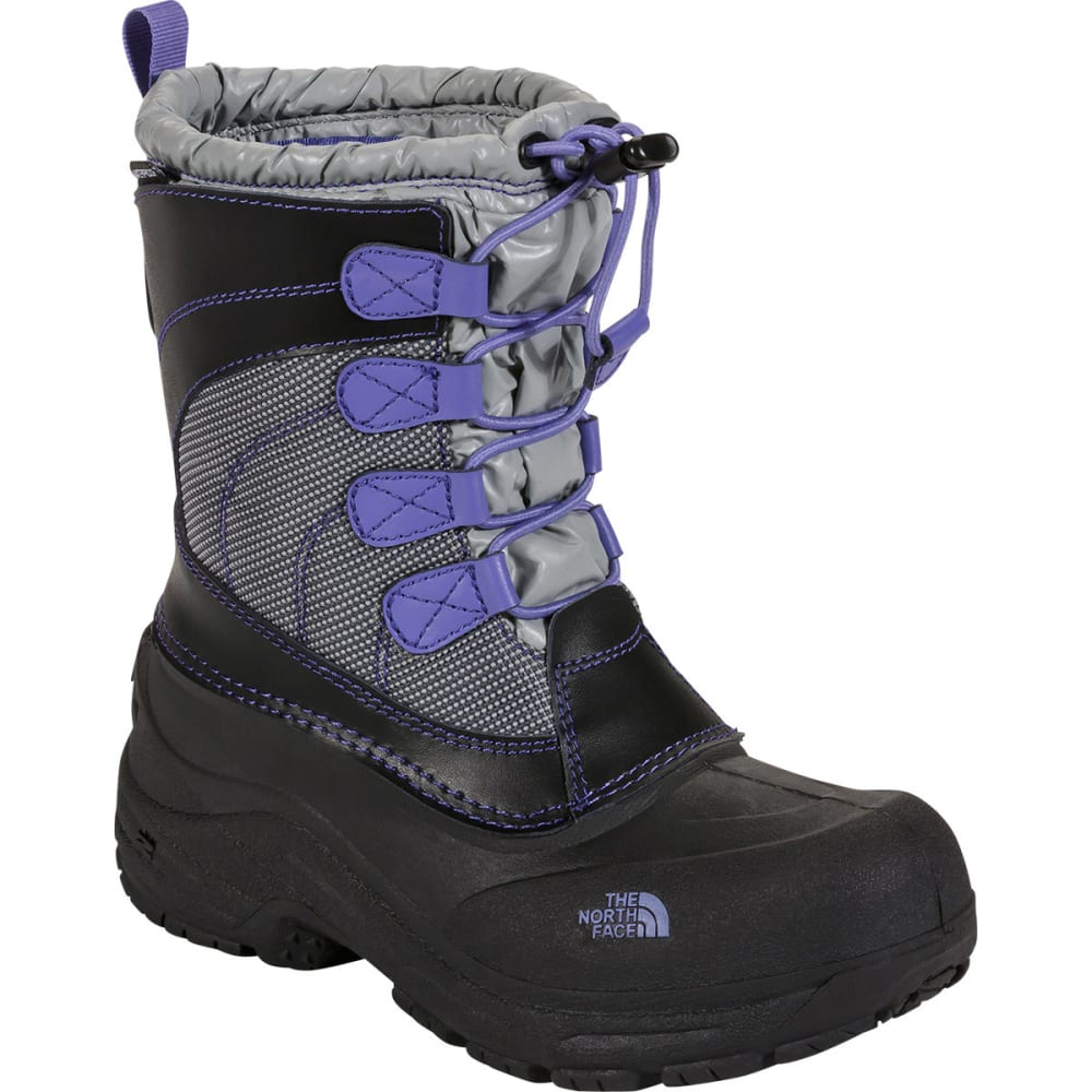 THE NORTH FACE Kids' Alpenglow Lace Boots, Griffin Grey - GRIFFIN GREY