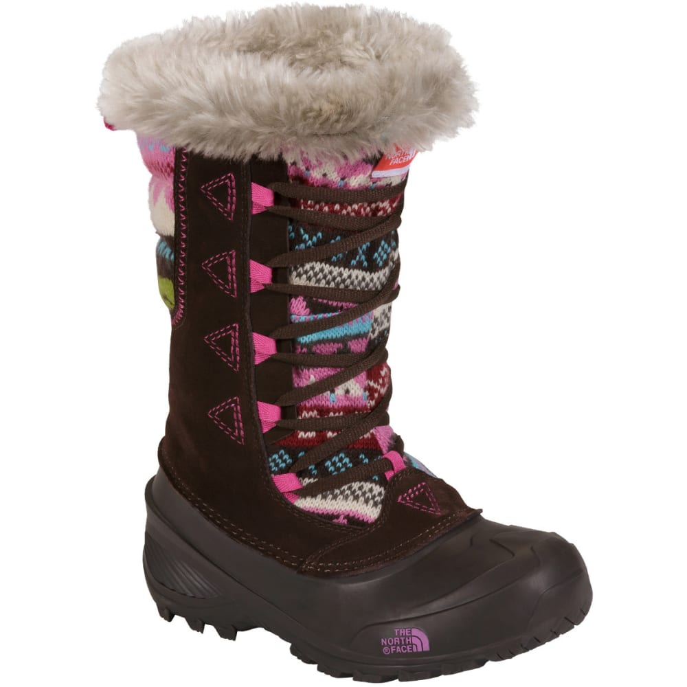 THE NORTH FACE Girl's Shellista Lace Novelty II Winter Boots - DEMITASSE BROWN