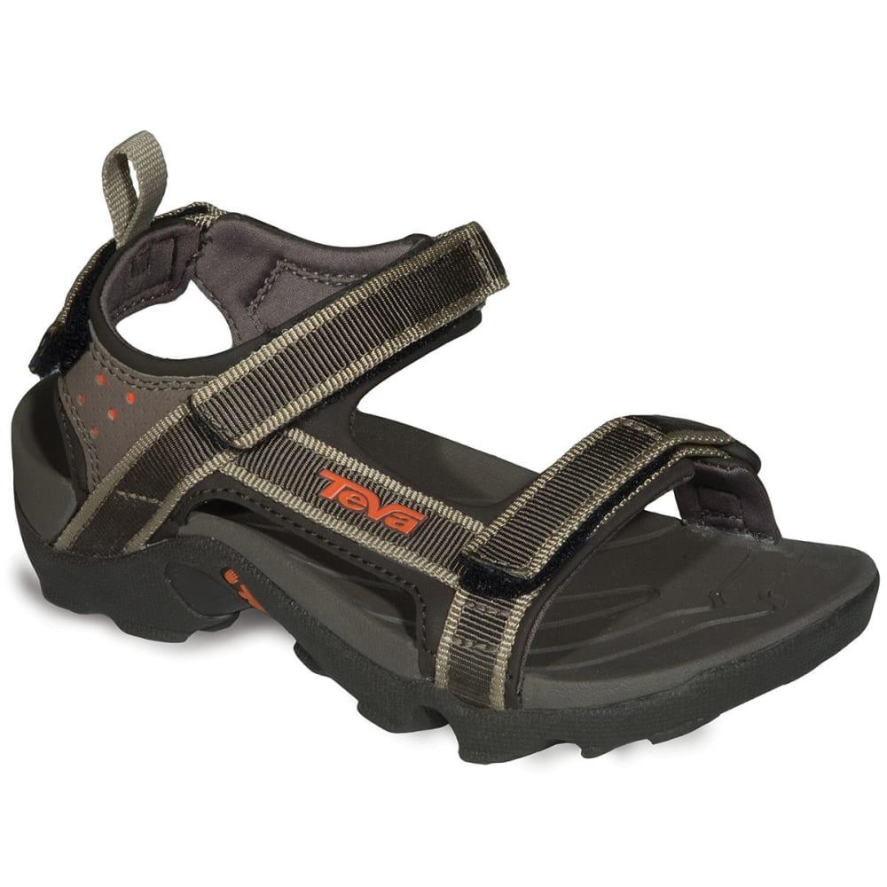 TEVA Boys' Tanza Sandals, Dark Olive - DARK OLIVE