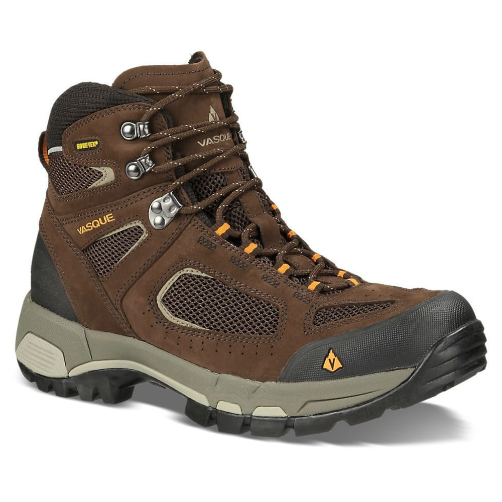 VASQUE Men's Breeze 2.0 GTX Hiking Boots - SLATE BROWN/ORANGE