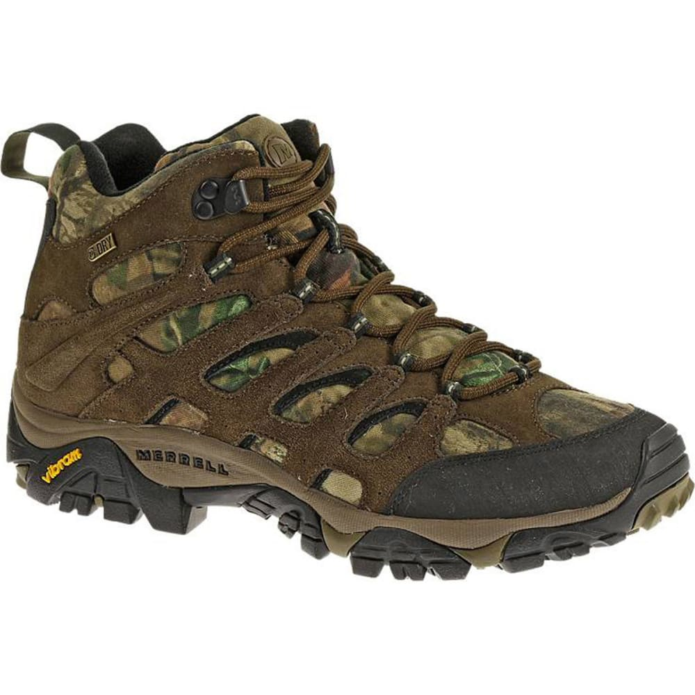 merrell s moab mid waterproof hiking boots mossy oak