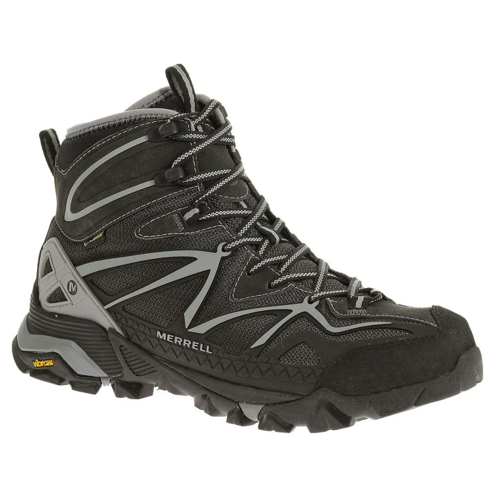 MERRELL Men's Capra Mid Sport GTX Hiking Boots, Black/Wild Dove - BLACK