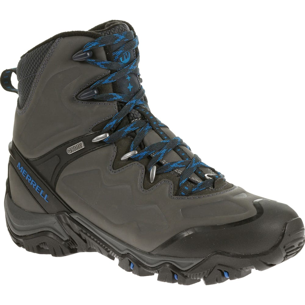 MERRELL Men's Polarand 8 Waterproof Hiking Boots - GRANITE