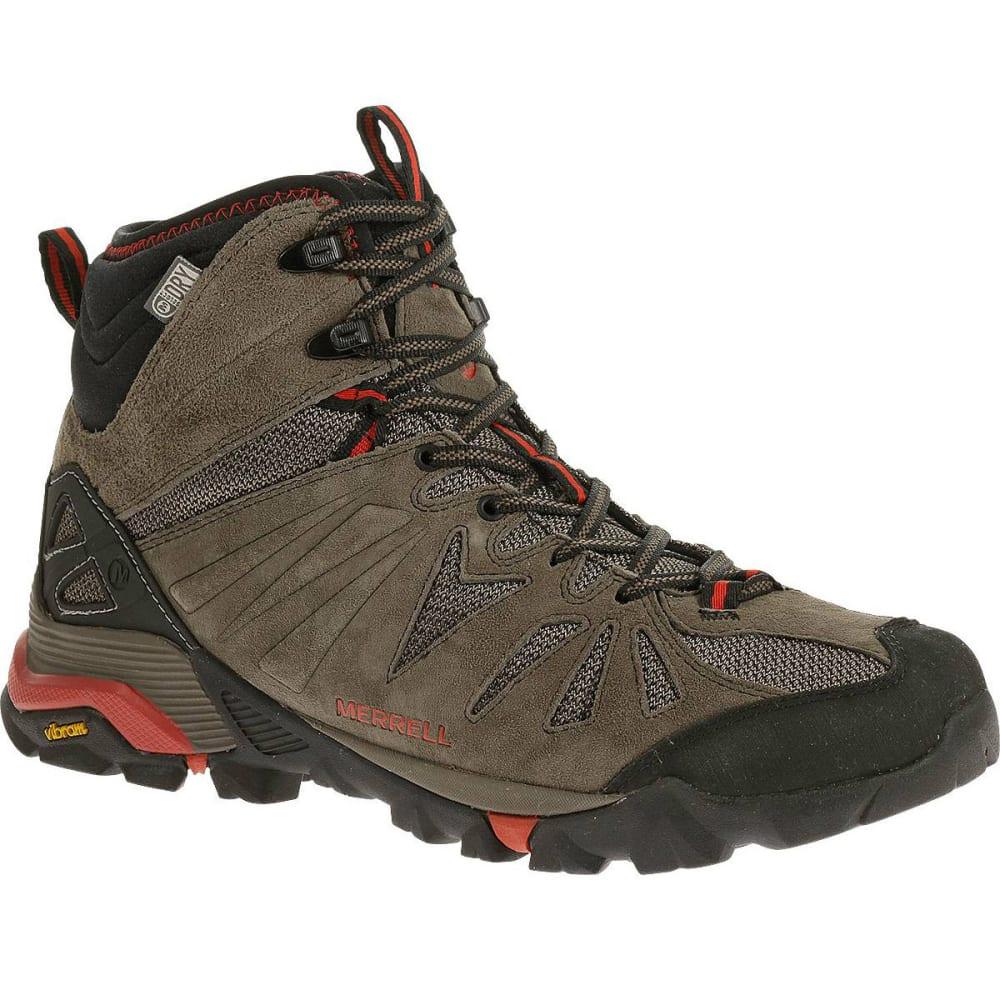 MERRELL Men's Capra Mid Waterproof Hiking Boots, Boulder - BOULDER