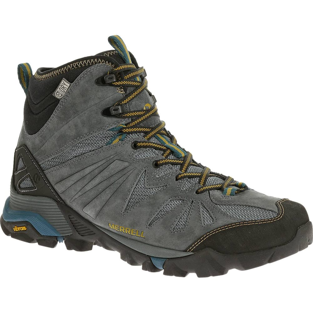 MERRELL Men's Capra Mid Waterproof Hiking Boots, Turbulence -  TURBULENCE
