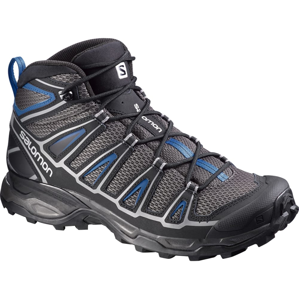 SALOMON Men's X Ultra Mid Aero Hiking Shoes - BLACK