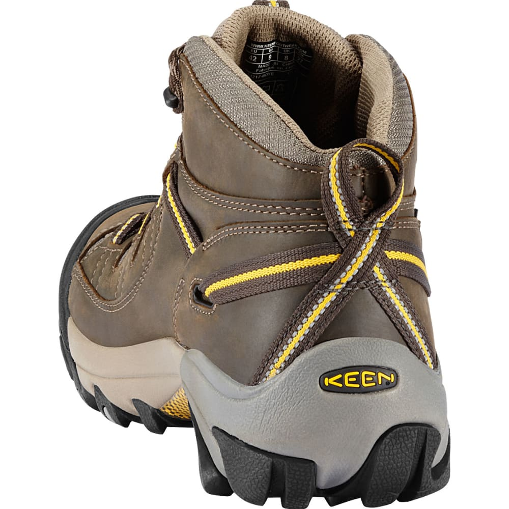 KEEN Men's Targhee II WP Hiking Boots, Black Olive/Yellow, Wide - BLACK OLIVE/YELLOW