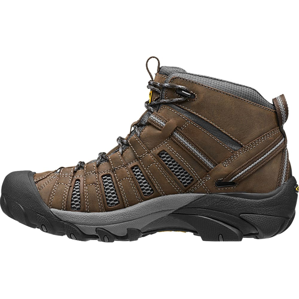 KEEN Men's Voyageur Mid Hiking Boots, Cascade Brown/Raven - BROWN