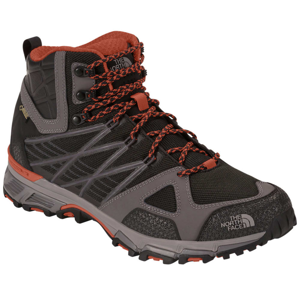 THE NORTH FACE Men's Ultra Hike Mid GTX Hiking Boots - BLACK