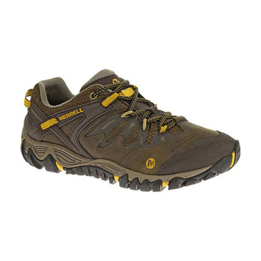 MERRELL Men's All Out Blaze Hiking Shoes, Slate/Yellow - BLACK/YELLOW