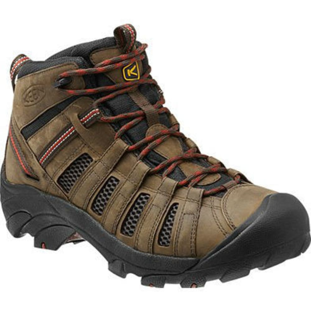 KEEN Men's Voyageur Mid Hiking Boots, Black Olive - NEW BLACK