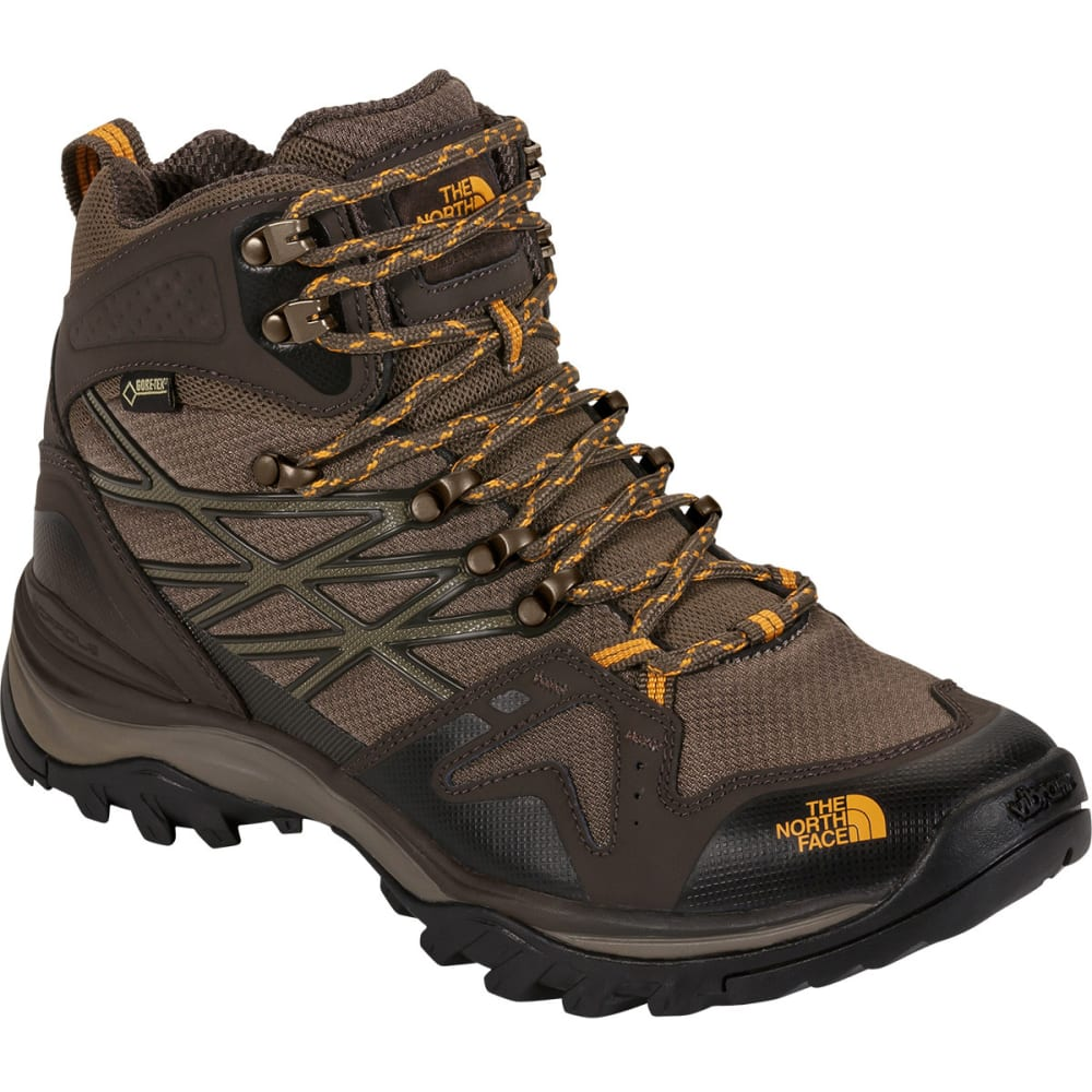 THE NORTH FACE Men's Hedgehog Hike Mid Gore-Tex Hiking Boots - SHROOM BRN/BRUSHFIRE