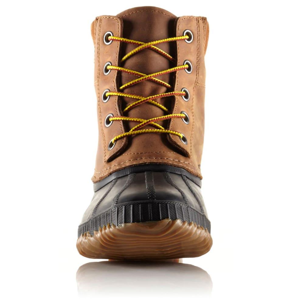 SOREL Men's Cheyanne Lace Full-Grain Winter Boots, Chipmunk/Black - BROWN