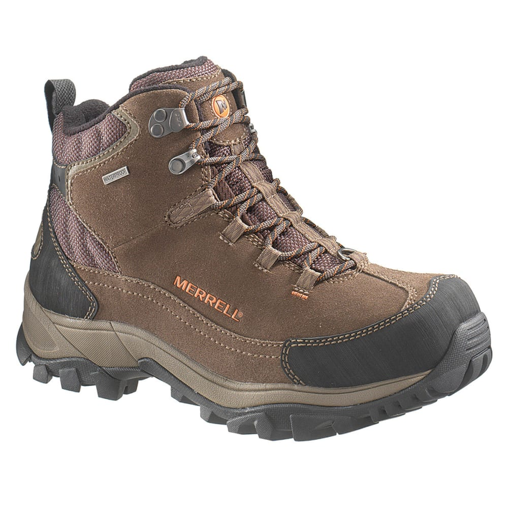 MERRELL Men's Norsehund Omega Mid WP Winter Boots - STONE