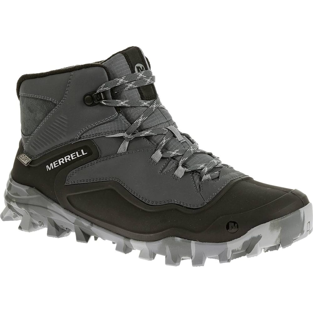 MERRELL Men's Fraxion Shell 6 Waterproof Boots, Monument - MONUMENT