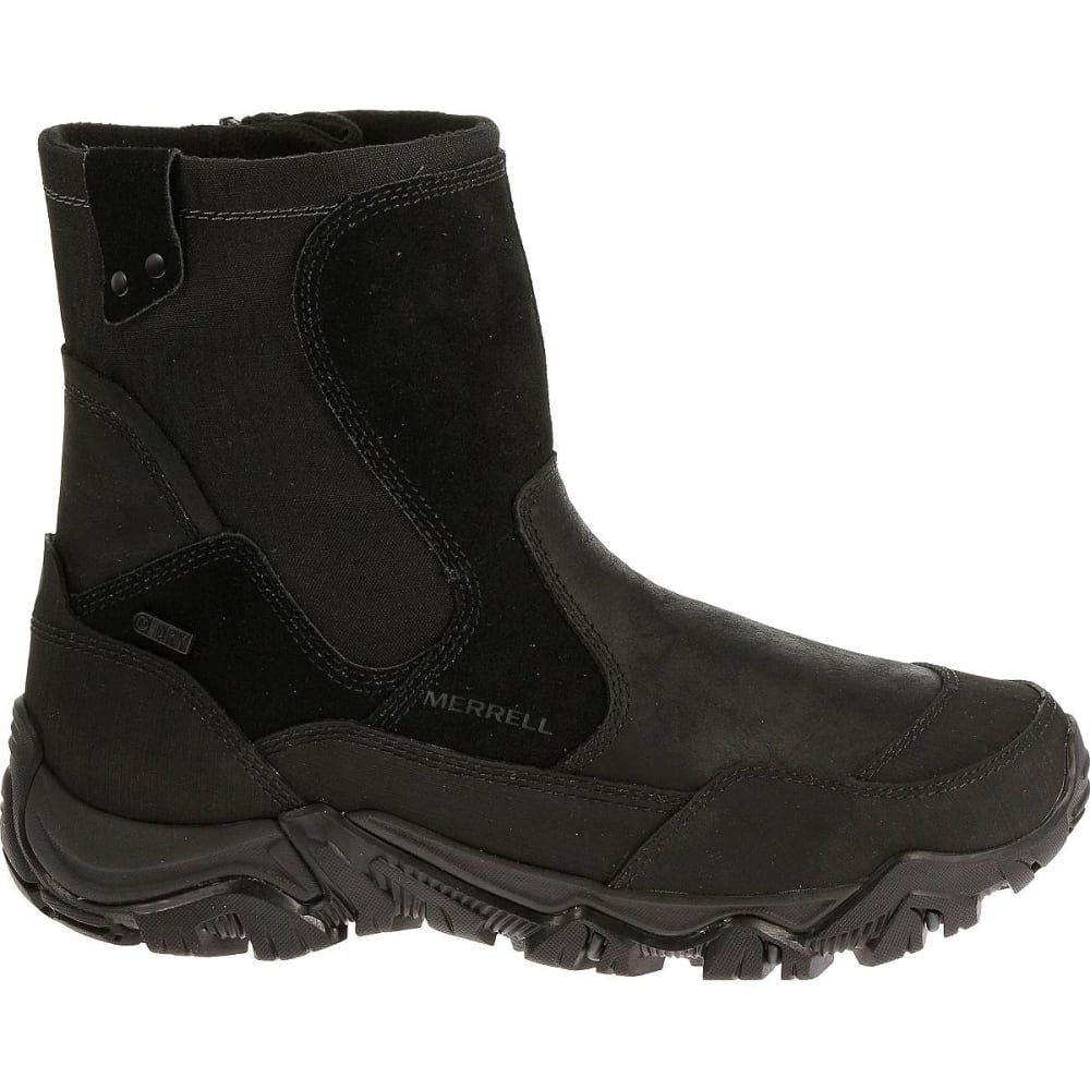 MERRELL Men's Polarand Rove Zip Waterproof Boots, Black - BLACK