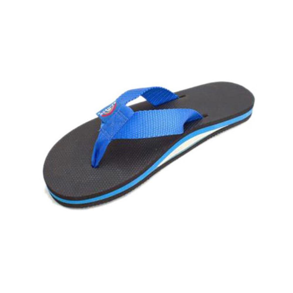 RAINBOW Men's Classic Flip-Flops, Blue - BLUE