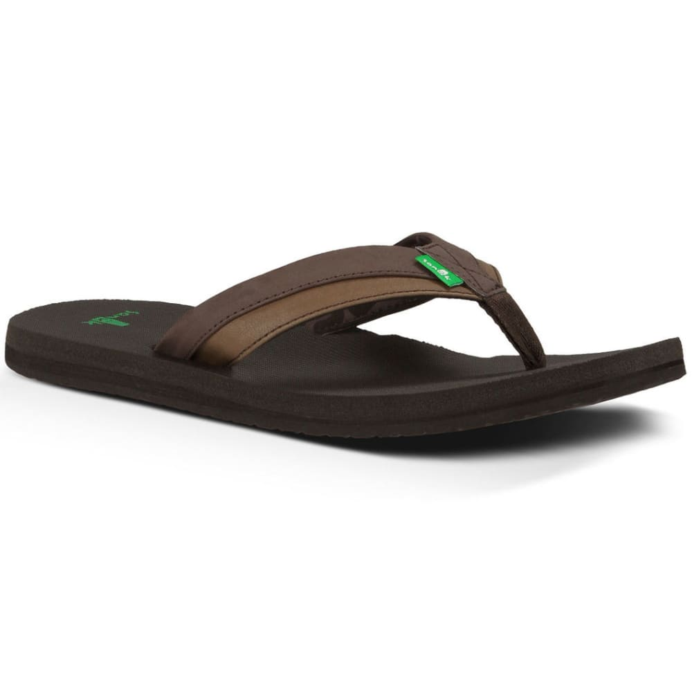 SANUK Men's Beer Cozy Light Sandals - DK BROWN