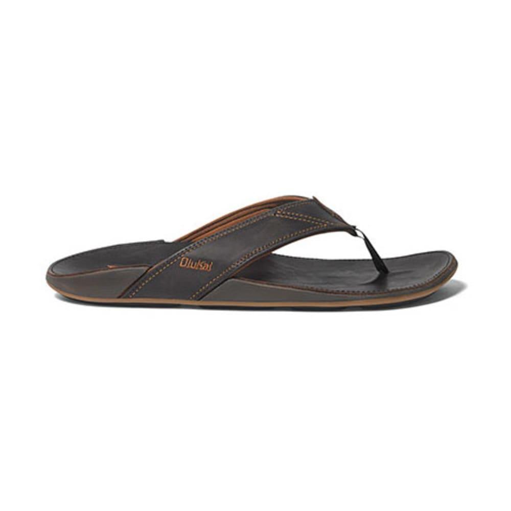 OLUKAI Men's Nui Flip-Flops, Dark Java - DARK JAVA
