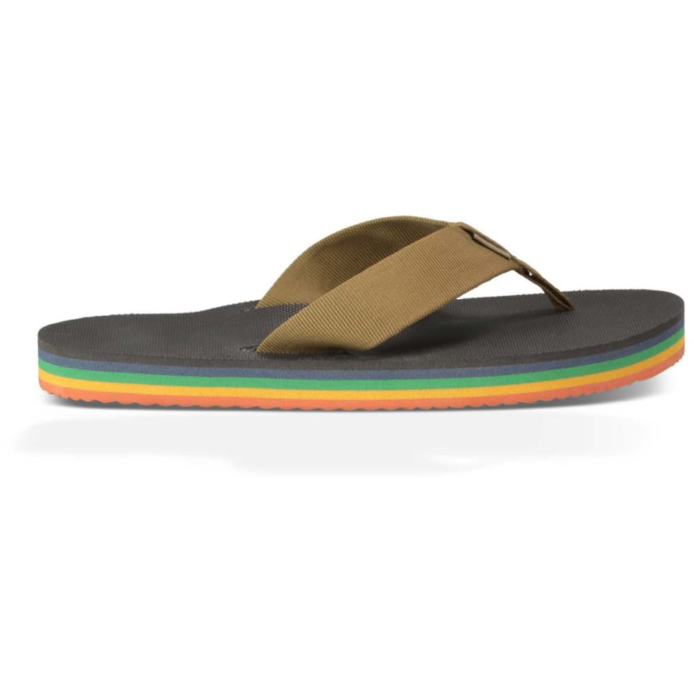 TEVA Men's Deckers Flip-Flops - GRAY