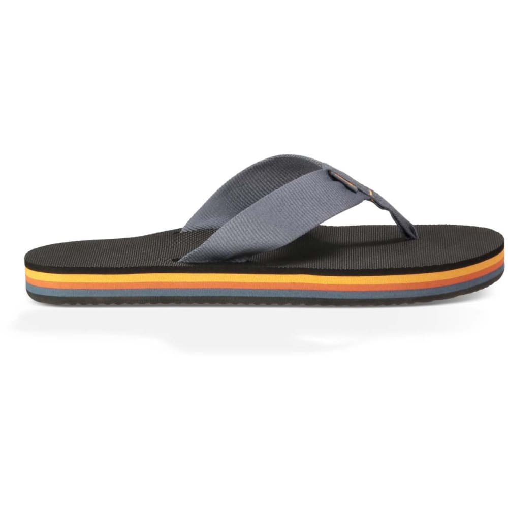 TEVA Men's Deckers Flip-Flops - BLUE