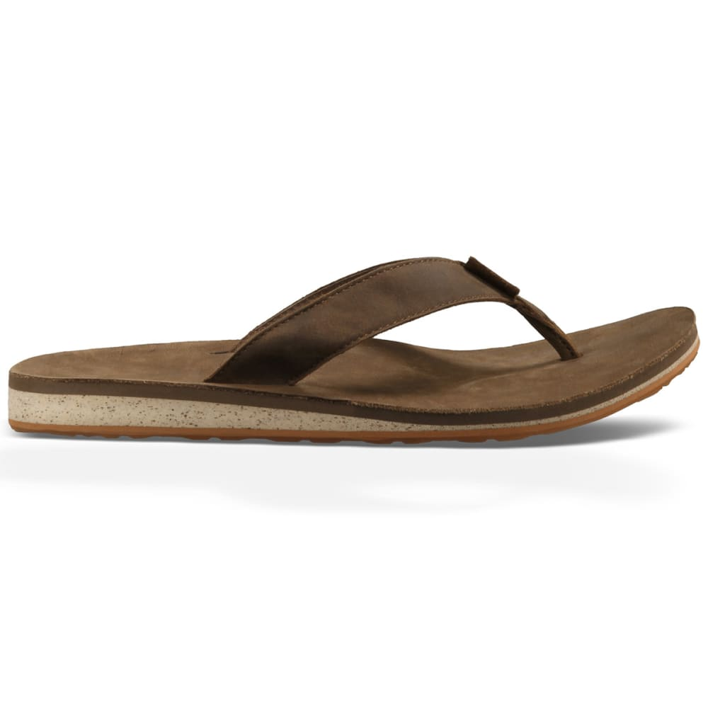 5fab3525140b4a TEVA Men  39 s Classic Premium Leather Flip-Flops