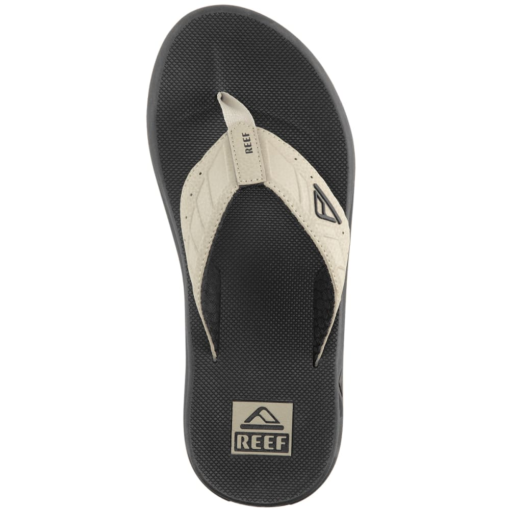 REEF Men's Phantoms Flip-Flops, Black/Tan - BLACK