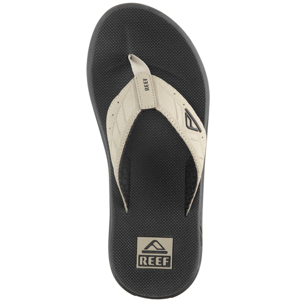 REEF Men's Phantoms Flip-Flops, Black/Tan - BLACK