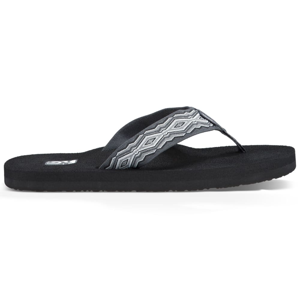 TEVA Men's Mush II Flip-Flops, Quincy Dark Grey - DARK GRAY