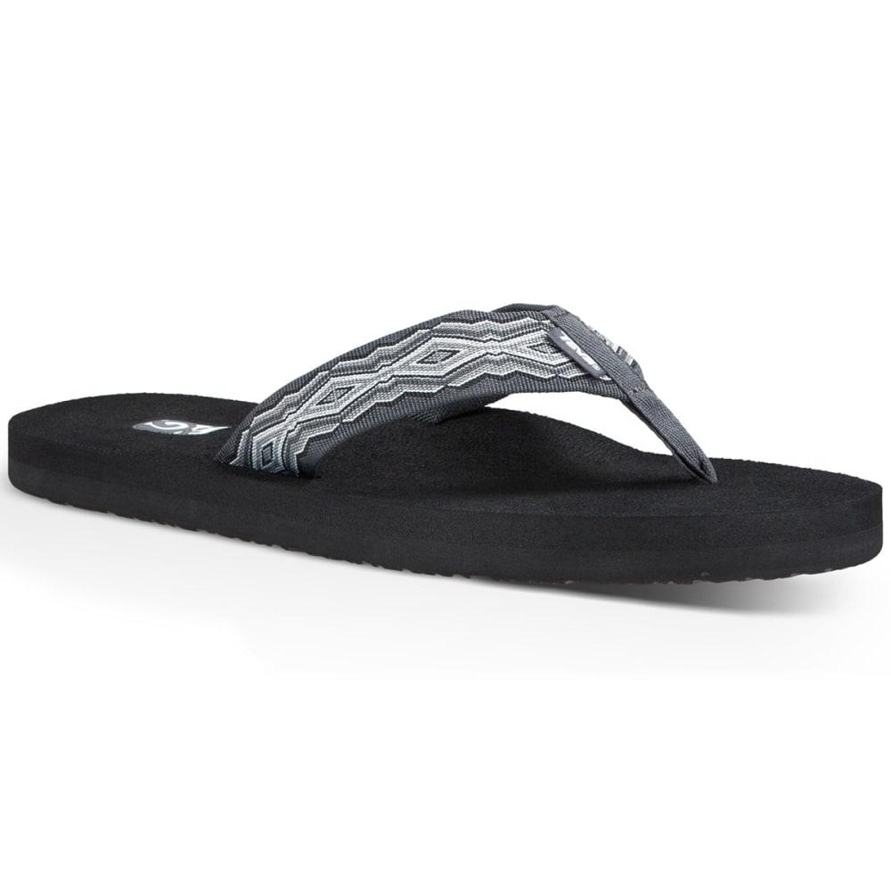 TEVA Men's Mush II Flip-Flops, Quincy Dark Grey - DARK GRAY