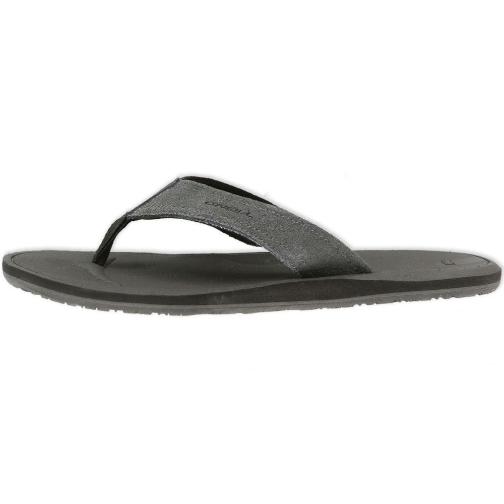 ... O'NEILL Men's Nacho Libre Suede Sandals - CHARCOAL