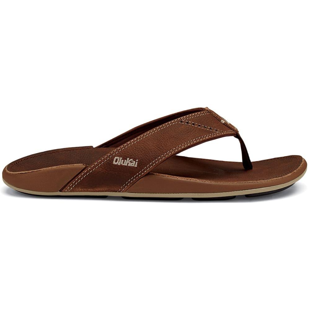 OLUKAI Men's Nui Flip-Flops - RUM/RUM