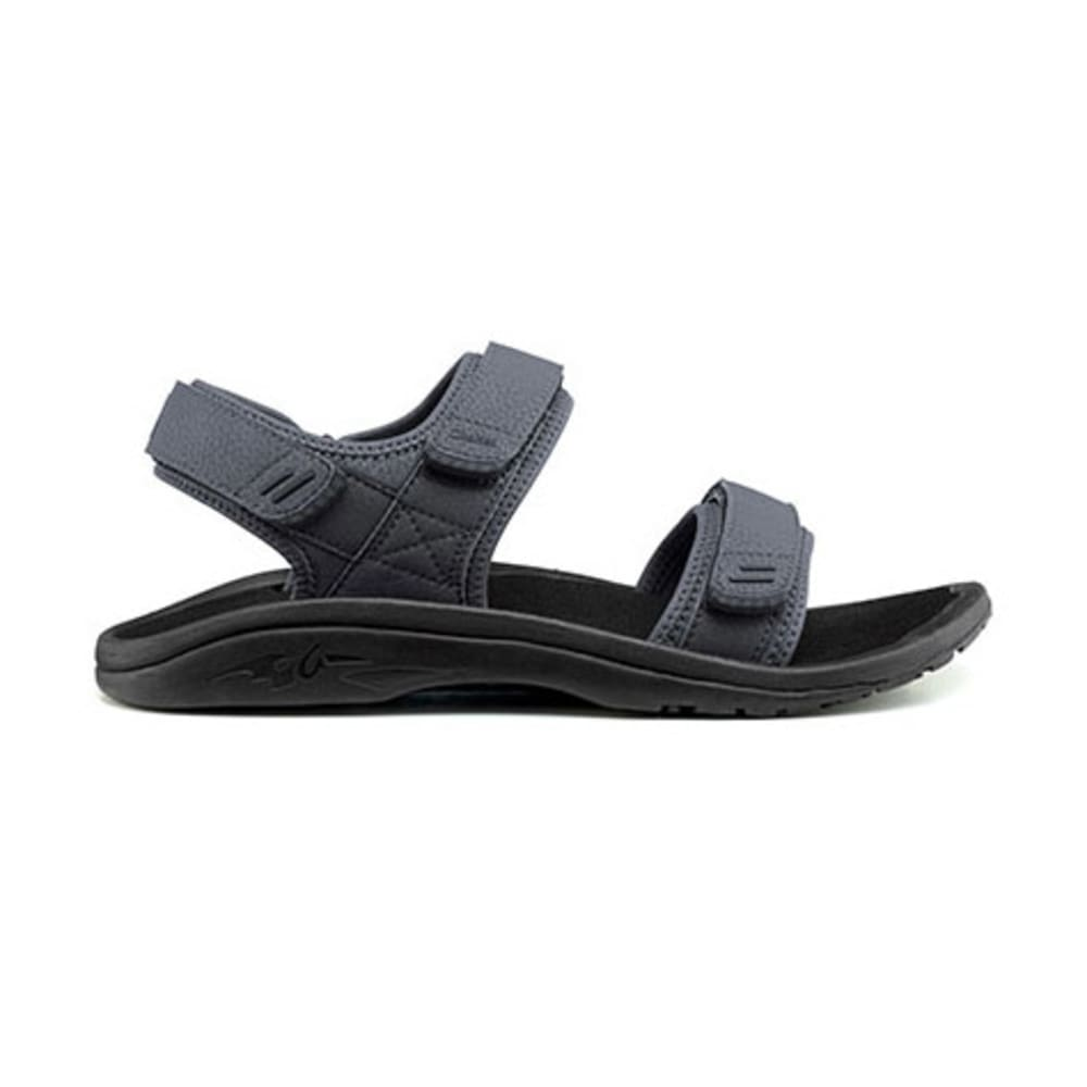 OLUKAI Men's Hokua Pahu Sandals, Dark Shadow/Trench Blue - DARK SHADOW