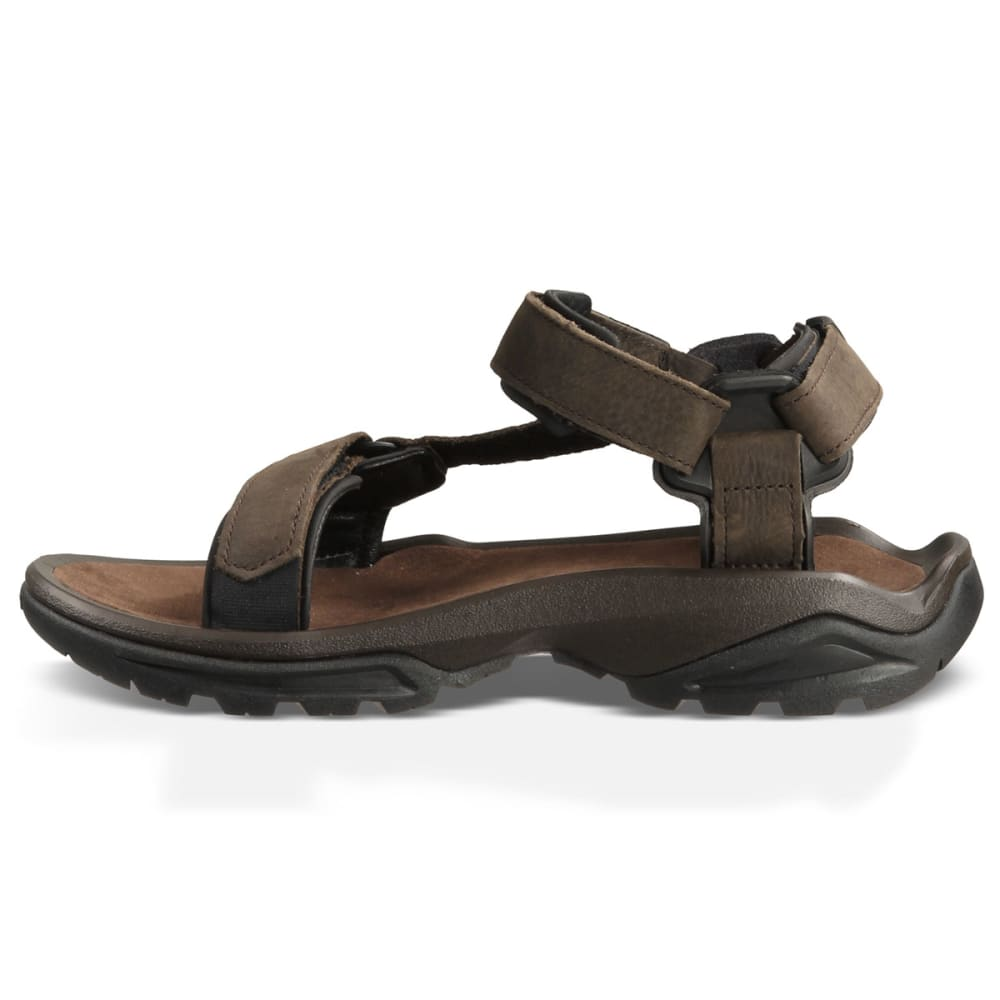 TEVA Men's Terra Fi 4 Leather Sandals - BROWN
