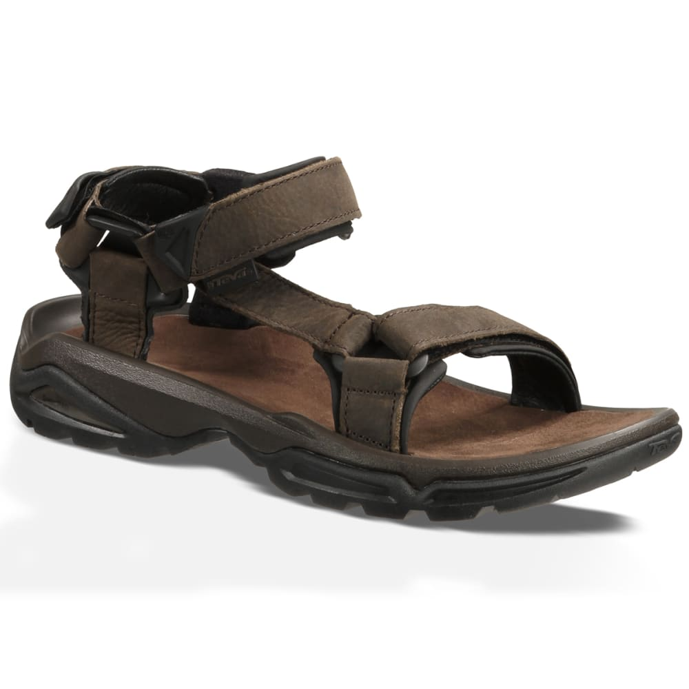 TEVA Men's Terra Fi 4 Leather Sandals - BROWN